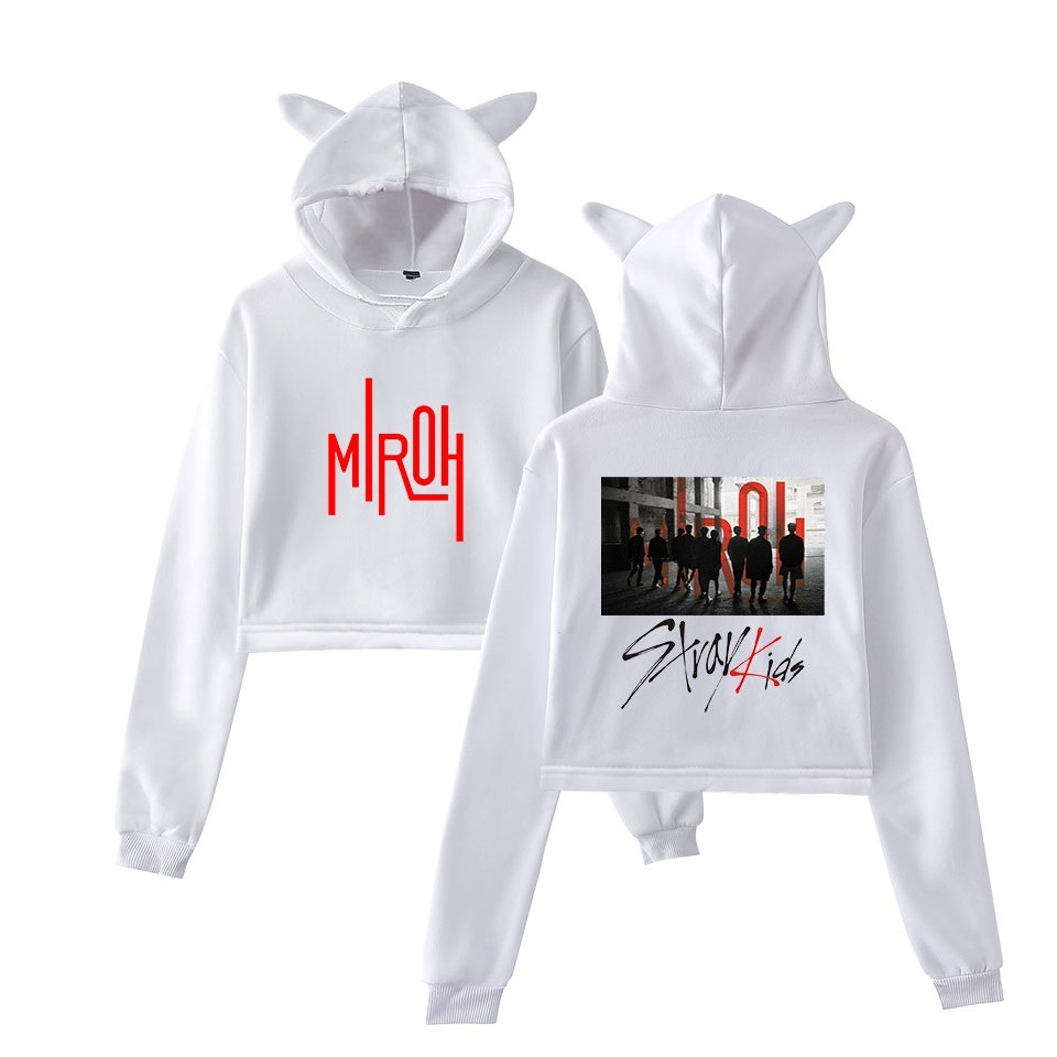 stray kids cropped hoodie