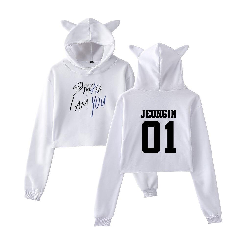 stray kids cropped hoodie