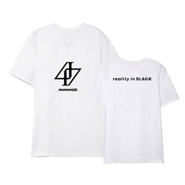 mamamoo reality in black tshirt