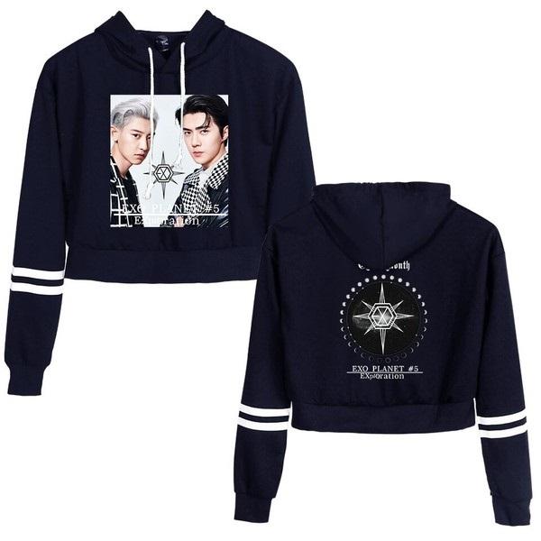 exo cropped hoodie merch