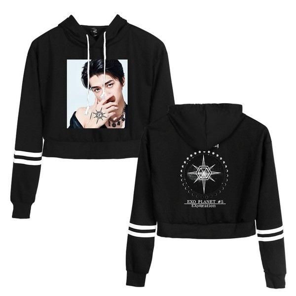 exo cropped hoodie