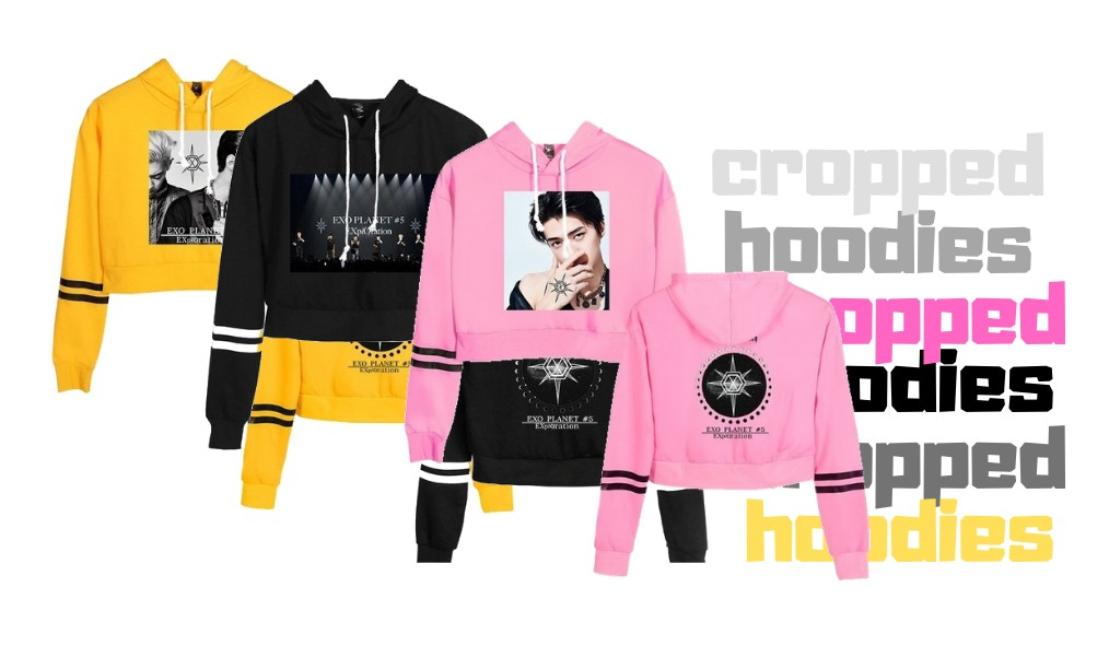 exo cropped hoodies