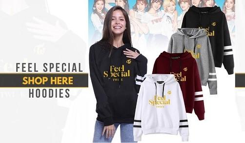 twice feel special hoodies