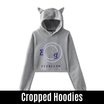 everglow cropped hoodies