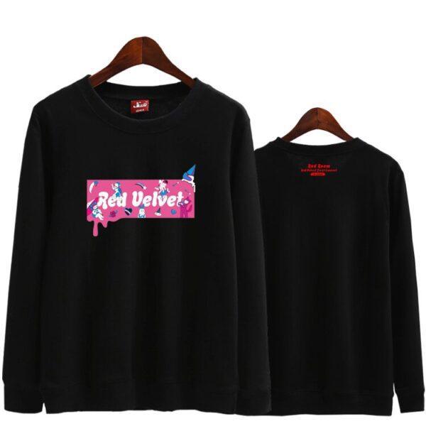 red velvet sweatshirt